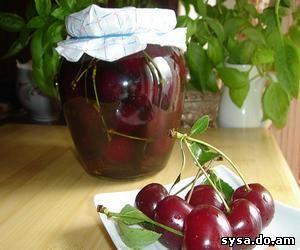 косточковые породы вишня в коньяке