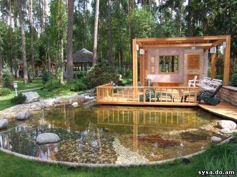 садовый пруд приусадебный участок