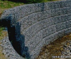 подпорные стенки из габиона