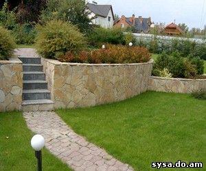 подпорные стенки дизайн сада