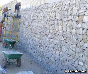 строим стенки из габиона
