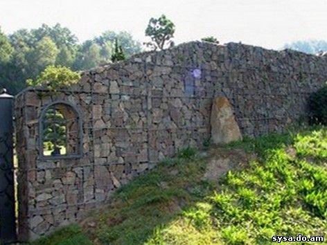 Подпорная стенка из габиона Чехия